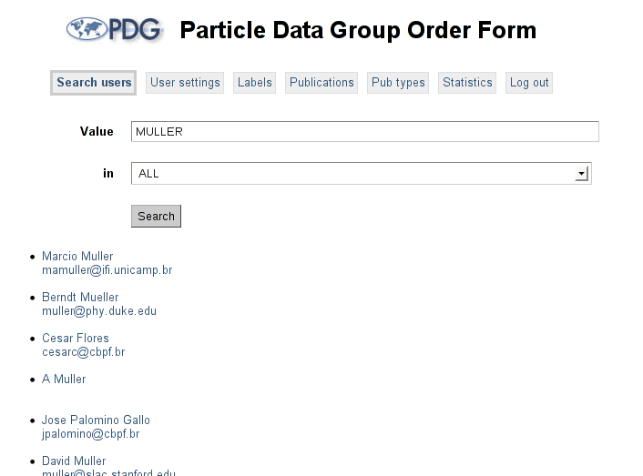 particle data group